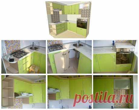 кухня в маленькой квартире.