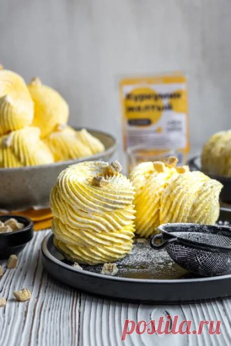 Рецепт яркого бананового зефира с натуральным красителем