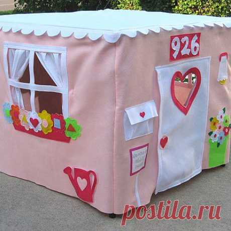 Детские домики из ткани | My Milady