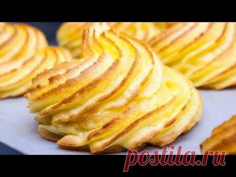 """Оригинальная подача картофельного гарнира на праздничный стол! Картофель """"Герцогиня"""""""