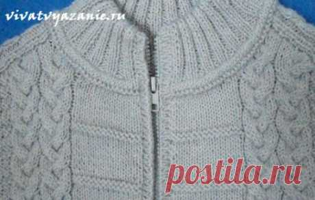 How to sew a lightning in a knitted product: detailed master class