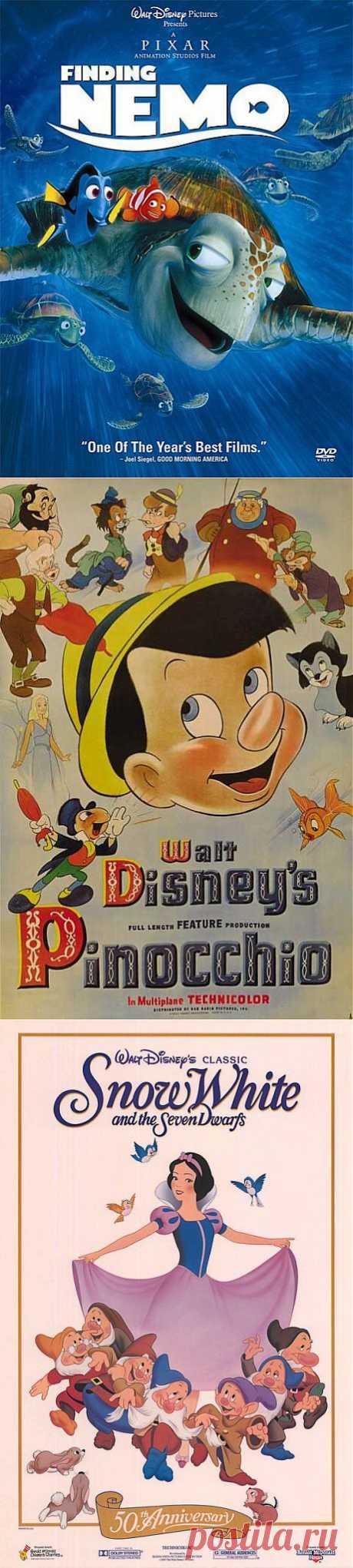 Лучшие американские мультфильмы. Топ-10 по версии American Film Institute