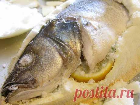 Рыба в соли в духовке – рецепт / Простые рецепты