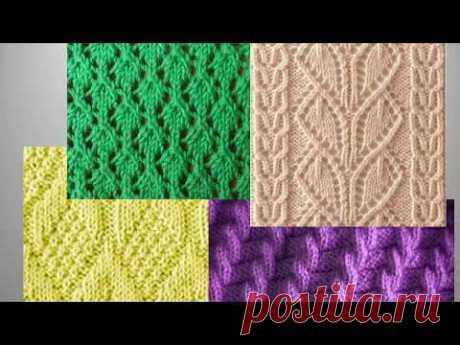 Интересные узоры спицами со схемами- 3. Вязание. Knitting Knitted Diy