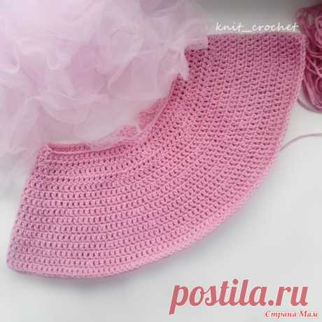 . Round coquette hook. How to do calculations - All in openwork... (knitting by a hook) - the Country of Mothers