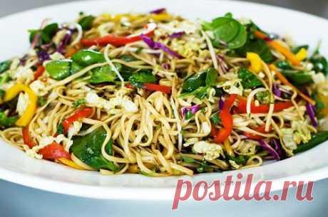 Китайская лапша-салат.