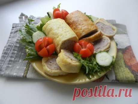 Мясной рулет в сырной обёртке | Рецепты для Вас!