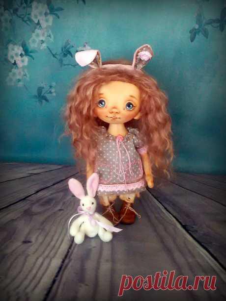 Роспись лица текстильной куклы. – Ярмарка Мастеров
