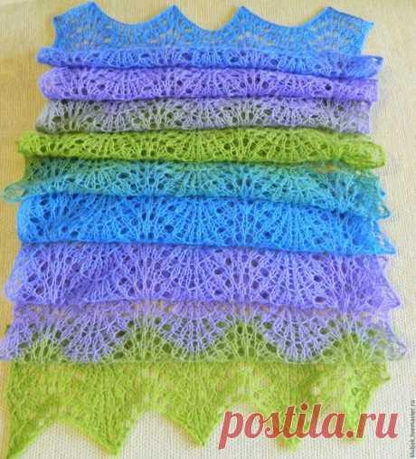 """Купить шарф """" Lilac"""" - шарф женский, шарф вязаный, шарфик крючком, ажурный шарфик"""