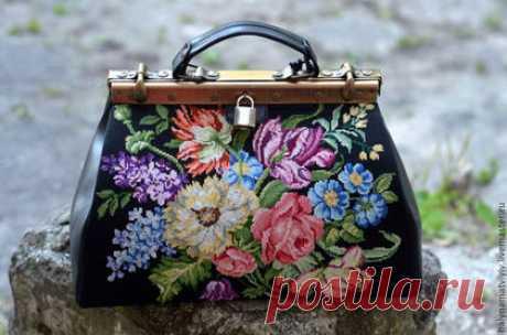 """Comprar el Maletín """"Викторианский"""" - de flores, la bolsa original, la bolsa bordada, la bolsa femenina, la Bolsa con el bordado"""