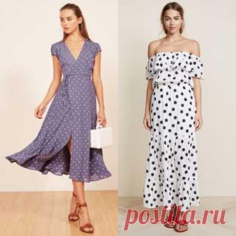 Выбираем платье с принтом в горошек     Мы подобрали для вас больше 20 вариантов самых красивых и модных платьев в горошек на весенне-летний сезон 2018 года. Интернет магазины (online shop) предлагают широкий ассортимент фасонов, расцве…