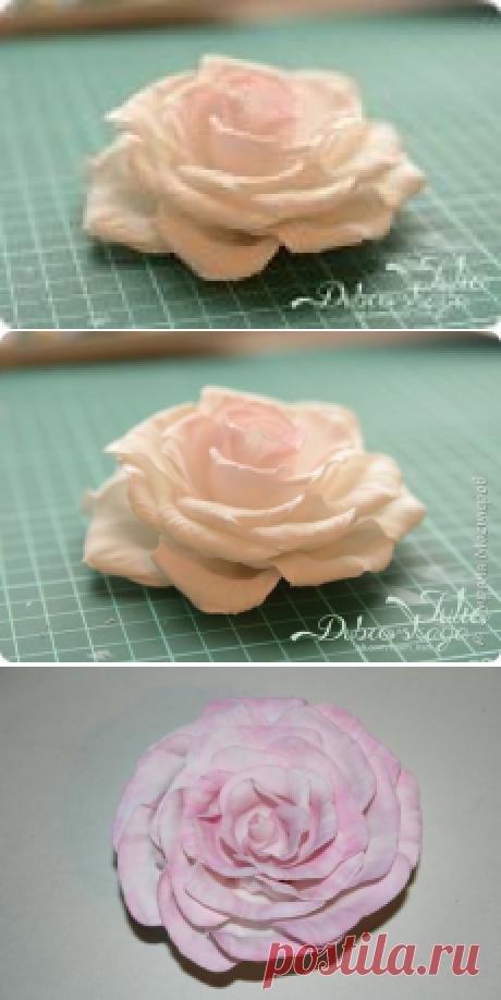 Мастер-класс: Распустившаяся роза Paris из фоамирана | Страна Мастеров