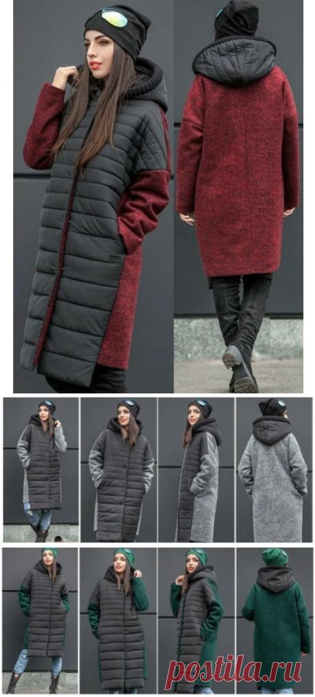 Выкройка модного комбинированного пальто / Простые выкройки / ВТОРАЯ УЛИЦА