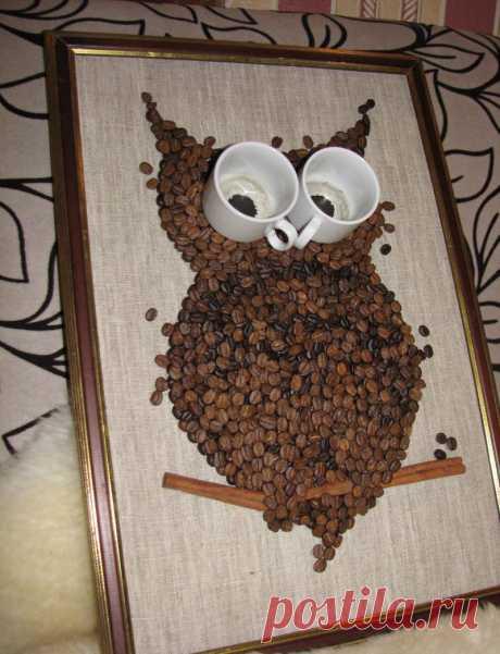 Панно из кофейных зерен своими руками: пошаговая инструкция по созданию