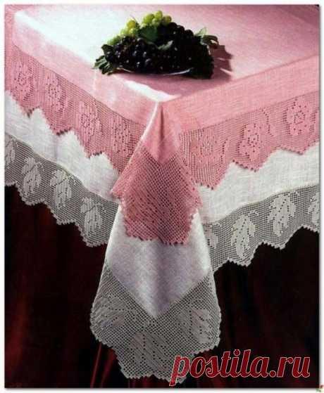 Нежная кайма - украшение для самой простой скатерти