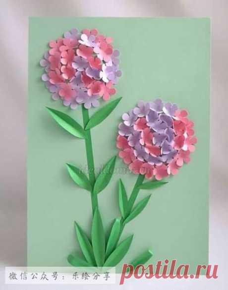 цветы на бумаге - идея поделки