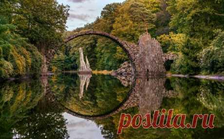 Kromlau park in Gablenz, Germany