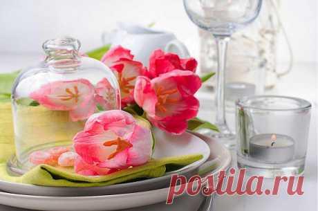 Сервировка стола на 8 марта: ТОП-10 весенних идей - Сервировка стола - праздничная сервировка салфеток - украшение стола - сервировка блюд - IVONA - bigmir)net - IVONA - bigmir)net