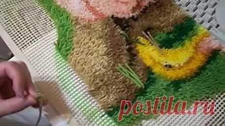 Мастер-класс вышивки в ковровой технике.