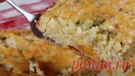 Вкусная ИДЕЯ ДЛЯ УЖИНА! Вкусней всего с КАПУСТОЙ! Пирог с капустой