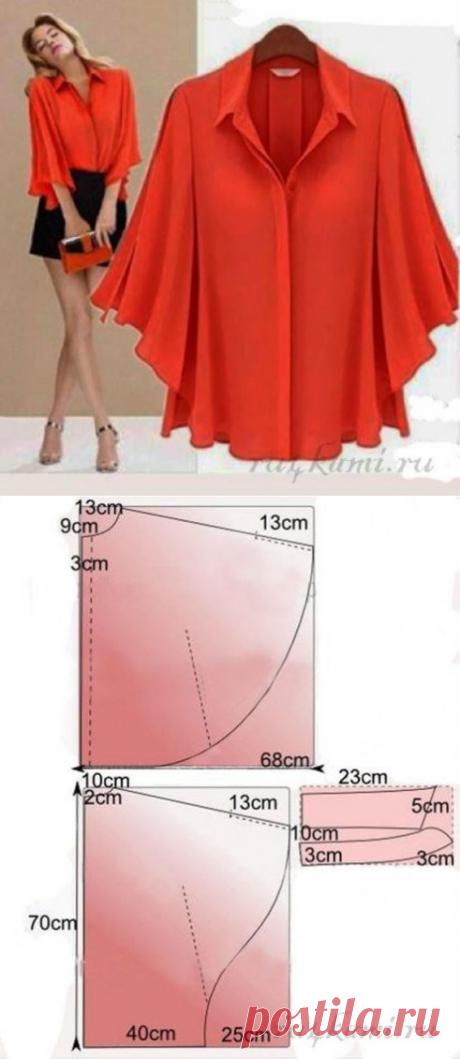 Моделирование блузки с рукавами