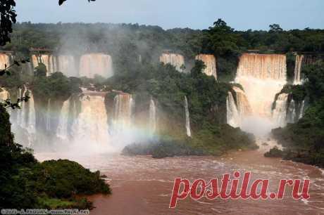 прекрасные водопады Игуасу