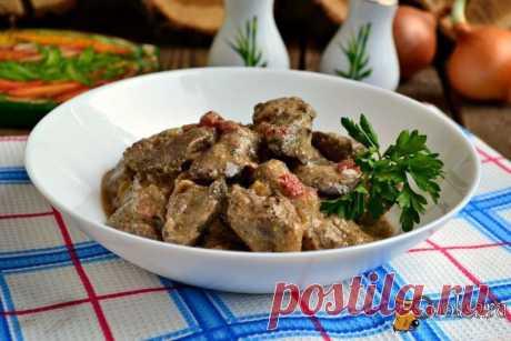 Куриная печень в кефирно-горчичном соусе
