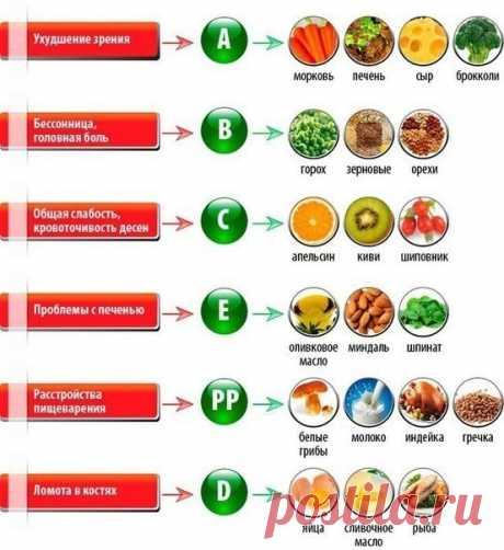 В каких продуктах и витаминах нуждается организм — Полезные советы