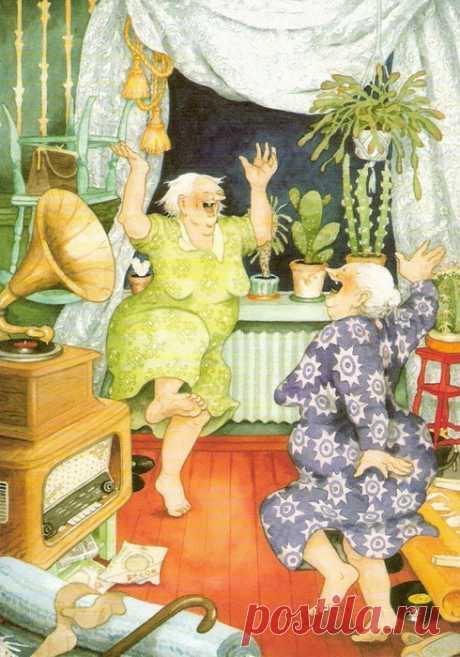 Позитивные старушки на картинах Inge Look