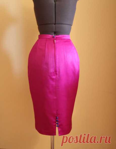 Как вшить простую застёжку-молнию в юбку — Мастер-классы на BurdaStyle.ru