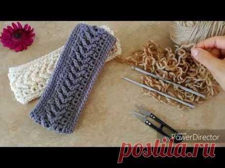 BANDA // DIADEMA TEJIDA EN PUNTO FLECHA  a Crochet