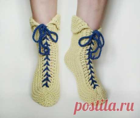 Интересные носки со шнуровкой спицами » «Хомяк55» - всё о вязании спицами и крючком