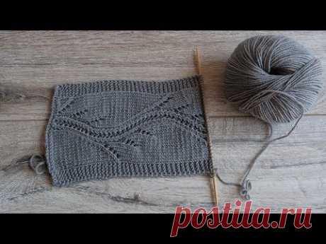 Узор «Хвост Змея» спицами, видео   «Tail of the Dragon» knitting pattern   «yılan kuyruğu» örgü
