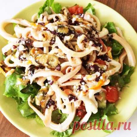 Теплый салат из морепродуктов под сливочно-апельсиновым соусом рецепт с фото пошагово