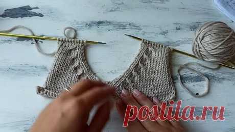 Красивый и интересный способ оформления горловины у джемпера, свитера, кардигана