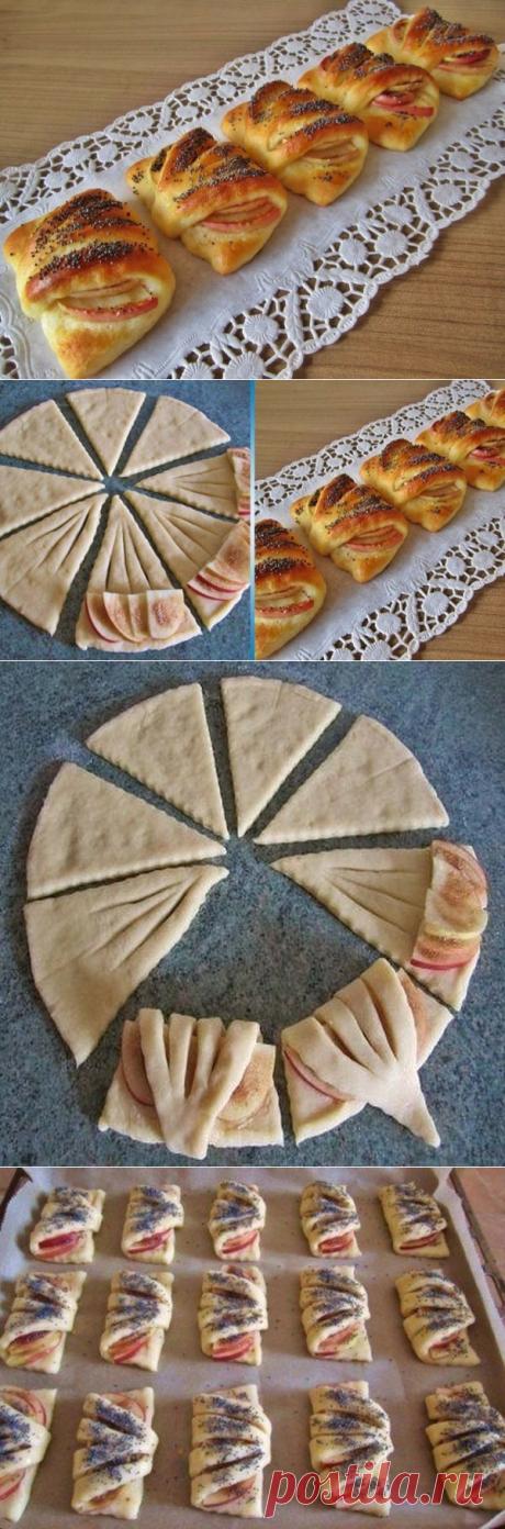 Как приготовить конвертики с яблоками  - рецепт, ингредиенты и фотографии