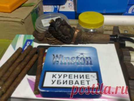 Сигариллы из домашнего табака .