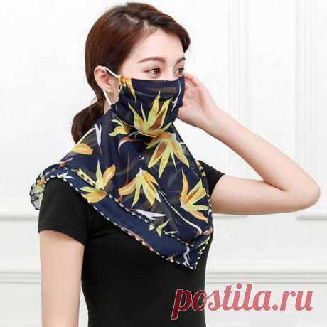 Как сшить красивую маску - шейный платок для походов в магазин