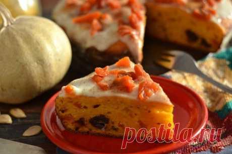 El pastel de calabazas sobre el kéfir con las frutas secas. La receta poshagovyy de la foto — Ботаничка.ru