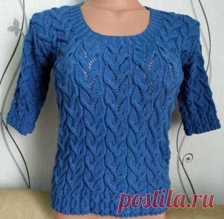 Красивый узор для пуловера со схемой — Сделай сам, идеи для творчества - DIY Ideas