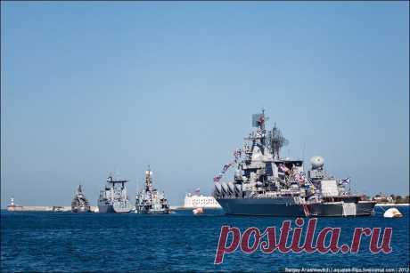 День ВМФ в Севастопое.