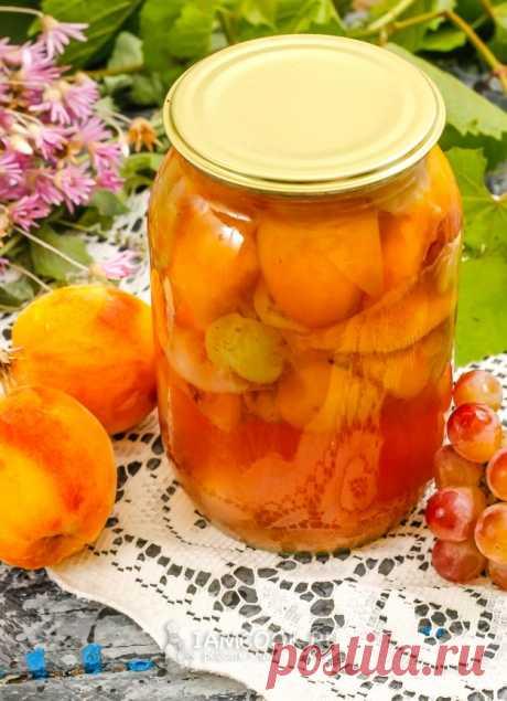Компот из персиков и винограда на зиму
