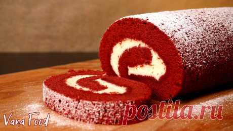 Рулет красный бархат – пошаговый рецепт с фотографиями