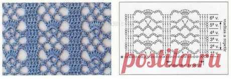 Ажурные узоры крючком (8 схем)