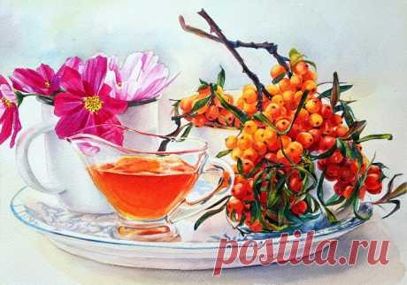 Акварельные  натюрморты –Вкусно трепетное  искусство. Оживают под кистью полОтна,насыщая,  души  необУзданность. Гамма  красок  в  букеты  собрана,свой     уютный   несёт   посыл, а за каждым фруктом и овощем,философский   кроется  смысл. Жизнью дышит  вода  в  графине,или  может  в  цветочной  вазе. Чайный  вкус, как  и  вкус  полыни,спорит  с  запахом   белой  герани. По   сценарию   натюрморта,сервированы    отношения… И  тарелочки  и  приборы  ждут,истории  той  продол...