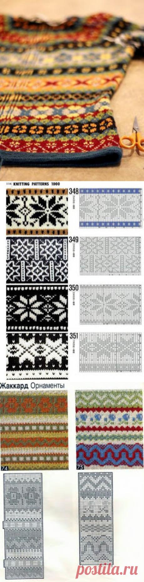 """Вязание в стиле Fair isle: снуды, шарфы, шапки..."""" (подборка + схемы)"""
