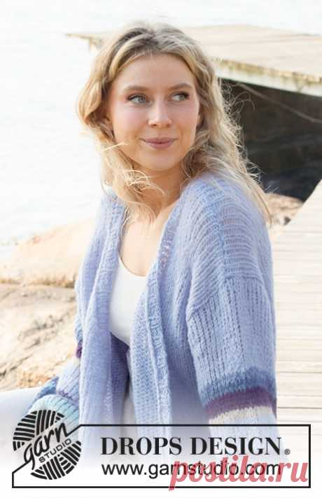 Жакет Blue Sunrise - блог экспертов интернет-магазина пряжи 5motkov.ru
