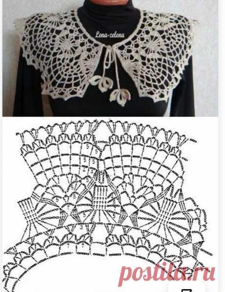 10 вязаных крючком воротничков со схемами вязания. И мои работы | Северная южанка | Яндекс Дзен