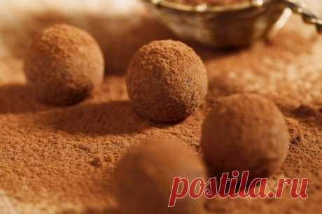 Трюфели из горького шоколада без сахара, рецепт — Вкусо.ру