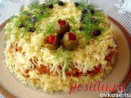 """Закусочный торт """"Пушистый"""" - Простые рецепты Овкусе.ру"""